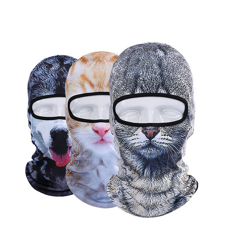 2536a1781b8 3D Animal Hat Cat Dog Bicycle Cycling Motorcycle Hats Balaclava Windproof  Snowboard Party Halloween Full Face Mask – Snowboarding Supplies